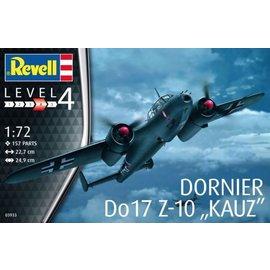 """Revell Revell Dornier Do17 Z-10 """"KAUZ"""" Military Aircraft 1:72 Scale Plastic Model Kit"""