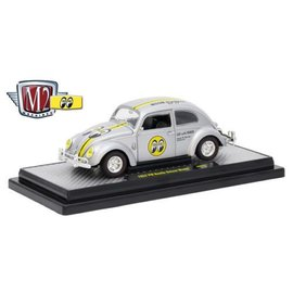 M2 Machines M2 Machines 1952 VW Beetle Deluxe Model Moon Eyes Moon Equipped Silver 1:24 Scale Diecast Model Car