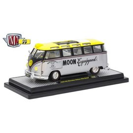M2 Machines M2 Machines 1959 VW Microbus Deluxe USA Model Moon Eyes Moon Equipped Silver 1:24 Scale Diecast Model Car
