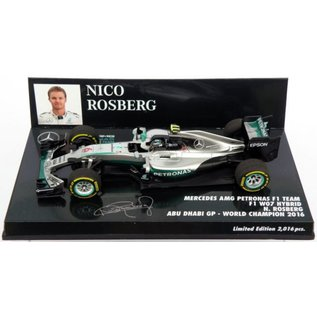 Minichamps Minichamps 2016 Mercedes AMG Petronas F1 Team Nico Rosberg Abu Dhabi World Champion 1:43 Scale Diecast Model Car