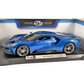 Maisto Maisto 2017 Ford GT Blue 1:18 Scale Diecast Model Car