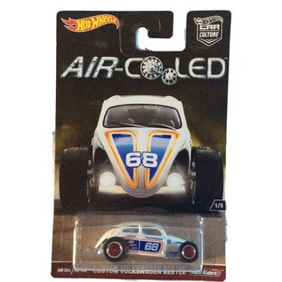 Hot Wheels Hot Wheels Car Culture Air Cooled Custom Volkswagen Beetle White 1:64 Scale Diecast Model Car