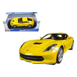 Maisto Maisto 2014 Corvette Stingray Yellow 1:18 Scale Diecast Model Car