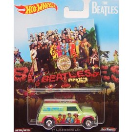 Hot Wheels Mattel Hot Wheels The Beatles Pop Culture 1967 Austin Mini Van Sgt. Peppers Lonely Hearts Club Band 1:64 Scale Diecast Model Car
