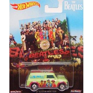 Hot Wheels Mattel Hot Wheels The Beatles Pop Culture 1967 Austin Mini Van Sgt. Peppers Lonely Hearts Club Band 1:64 Scale Diecast Model Car