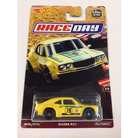 Hot Wheels Mattel Hot Wheels Mazda RX3 Yellow #78 Car Culture Race Day Series 1:64 Scale Diecast Model Car