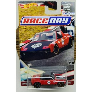 Hot Wheels Mattel Hot Wheels Porsche 914-6 #914 Red Car Culture Race Day Series 1:64 Scale Diecast Model Car