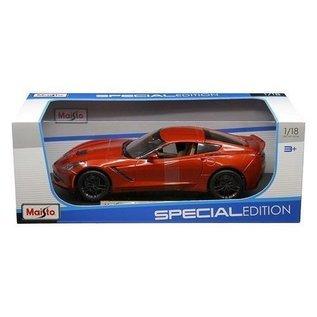 Maisto Maisto 2014 Corvette Stingray Z51 Burnt Orange 1:18 Scale Diecast Model Car