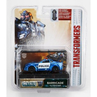 Jada Toys Jada Toys Transformers Movie Barricade Blue 1:64 Scale Diecast Model Car