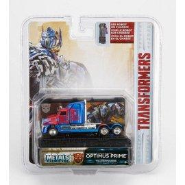 Jada Toys Jada Toys Transformers Western Star 5700 XE Phantom Optimus Prime Blue 1:64 Scale Diecast Model Car
