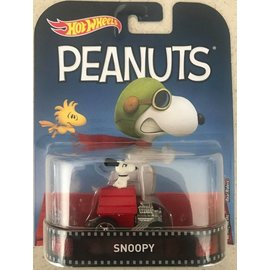 Hot Wheels Mattel Hot Wheels Snoopy Retro Entertainment 1:64 Scale Diecast Model Car
