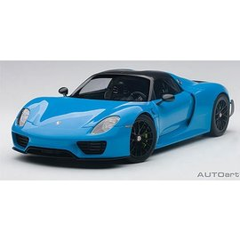 Auto Art Auto Art Porsche 918 Spyder Riviera Blue Diecast And Resin 1:18 Scale Model Car