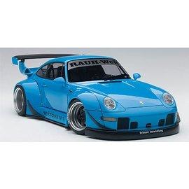 Auto Art Auto Art Porsche RWB 993  Sky Blue/Gun Grey Wheels 1:18 Scale Diecast And Resin Model Car
