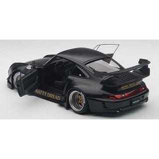 Auto Art Auto Art Porsche RWB 993 matt Black/Gold Wheels 1:18 Scale Diecast And Resin Model Car