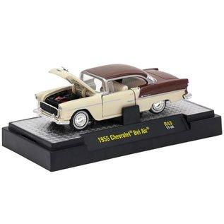 M2 Machines M2 Machines 1955 Chevrolet Bel Air Auto Thentics Series Release 43 1:64 Scale Diecast Model Car