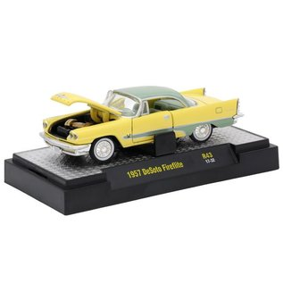 M2 Machines M2 Machines 1957 DeSoto Fireflite Yellow Auto Thentics Series Release 43 1:64 Scale Diecast Model Car