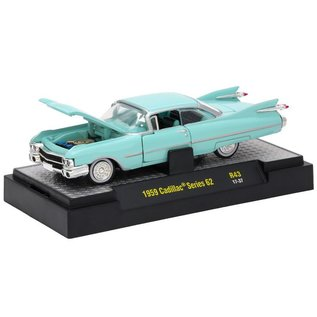 M2 Machines M2 Machines 1959 Cadillac Series 62 Light Blue Auto Thentics Series Release 43 1:64 Scale Diecast Model Car