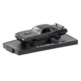 M2 Machines M2 Auto Drivers Series Release 41 Frozen Black Pearl 1971 Plymouth Hemi Cuda 1:64 Scale Diecast Model Car