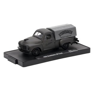 M2 Machines M2 Machines Auto Drivers Frozen Black Pearl Series Release 41 1950 Studebaker 2R Truck 1:64 Scale Diecast Model Car