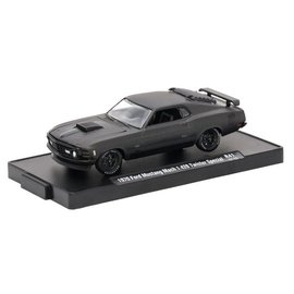 M2 Machines M2 Machines Auto Drivers Frozen Black Pearl Series Release 41 1970 Ford Mustang Mach 1 428 Twister Special 1:64 Scale Diecast Model Car