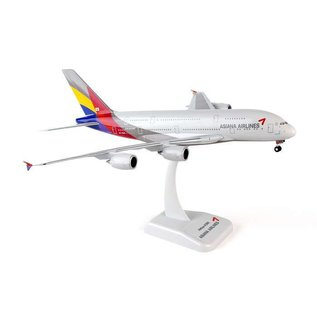Hogan Wings Hogan Wings Asiana Airlines Airbus A380 1:200 Scale Plastic Model Airplane