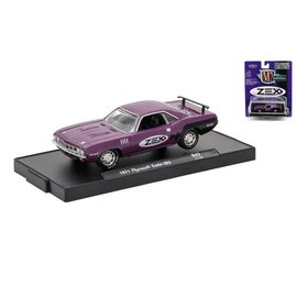 M2 Machines M2 Machines 1971 Plymouth Cuda 383  Purple ZEX Auto Drivers Series Release 42 1:64 Scale Diecast Model Car