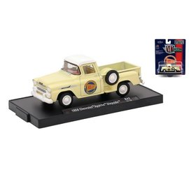 M2 Machines M2 Machines 1958 Chevrolet Apache Stepside Yellow Auto Drivers Series Release 42 1:64 Scale Diecast Model Car