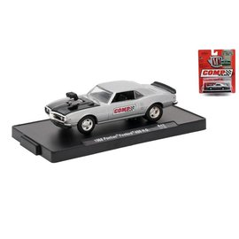 M2 Machines M2 Machines 1968 Pontiac Firebird 400 H.O. Silver Comp Cams Auto Drivers Series Release 42 1:64 Scale Diecast Model Car