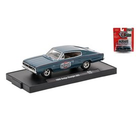 M2 Machines M2 Machines 1966 Dodge Charger 383 Blue HAYS Auto Drivers Series Release 42 1:64 Scale Diecast Model Car