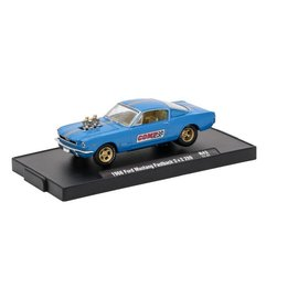 M2 Machines M2 Machines 1966 Ford Mustang Fastback 2+2 289 Blue COMP CAMS Auto Drivers Series Release 43 1:64 Scale Diecast Model Car