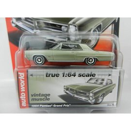 Auto World Auto World 1964 Pontiac Grand Prix Green Vintage Muscle Premium Series 2017 Release 1 1:64 Scale Diecast Model Car