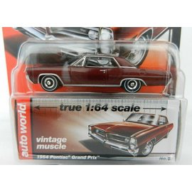 Auto World Auto World 1964 Pontiac Grand Prix Burgundy Vintage Muscle Premium Series 2017 Release 1 1:64 Scale Diecast Model Car