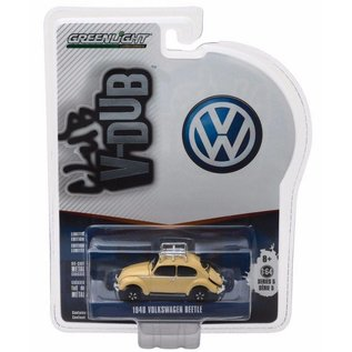 Greenlight Collectibles Greenlight 1948 Volkswagen Beetle Yellow Club V-Dub Series Release 5 1:64 Scale Diecast Model Car
