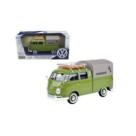 Motor Max Motor Max Volkswagen Type 2 T1 Delivery Pick Up Green 1:24 Scale Diecast Model Car