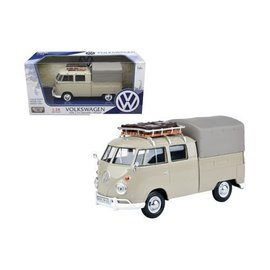 Motor Max Motor Max Volkswagen Type 2 (T1) Delivery/Pickup Tan 1:24 Scale Diecast Model Car