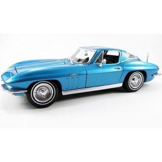 Maisto 1965 Chevrolet Corvette Light Blue Maisto 1:18 Scale Diecast Model Car