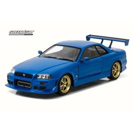 Greenlight Collectibles Greenlight 1999 Nissan Skyline GT-R R34 Blue Artisan Collection 1:18 Scale Diecast Model Car