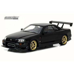 Greenlight Collectibles Greenlight 1999 Nissan Skyline GT-R R34 Black Artisan Collection 1:18 Scale Diecast Model Car