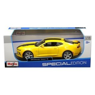 Maisto Maisto 2016 Chevrolet Camaro SS Yellow 1:18 Scale Diecast Model Car