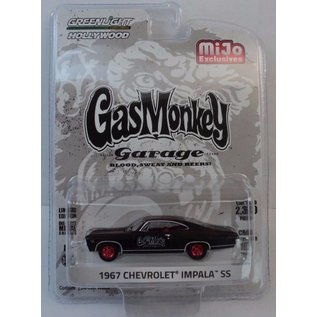 Greenlight Collectibles Greenlight 1967 Chevrolet Impala SS Primer Black Gas Monkey Garage MiJo Exclusive 1:64 Scale Diecast Model Car