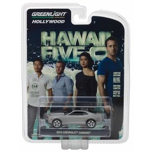 Greenlight Collectibles Greenlight 2010 Chevrolet Camaro Silver Hawaii Five-O Hollywood Series Release 17 1:64 Scale Diecast Model Car