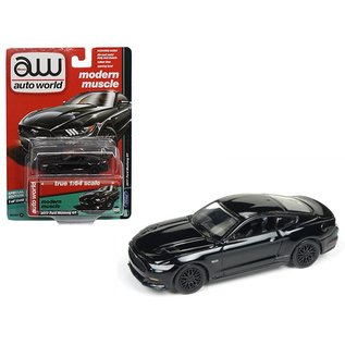Auto World Auto World 2017 Ford Mustang GT Black Modern Muscle 1:64 Scale Diecast Model Car
