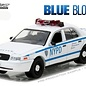 Greenlight Collectibles Greenlight 2001 Ford Crown Victoria Police Interceptor White Blue Bloods Hollywood Series Release 16 1:64 Scale Diecast Model Car