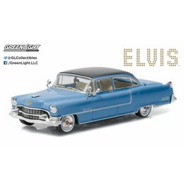 Greenlight Collectibles Greenlight 1955 Cadillac Fleetwood Series 60 Blue Elvis Hollywood Series Release 16 1:64 Scale Diecast Model Car