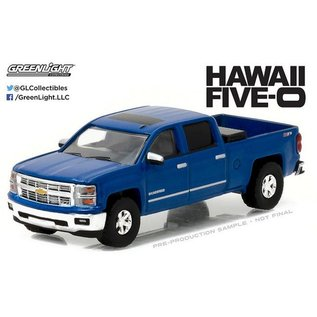 Greenlight Collectibles Greenlight 2014 Chevrolet Silverado Blue Hawaii Five-O Hollywood Series Release 16 1:64 Scale Diecast Model Car