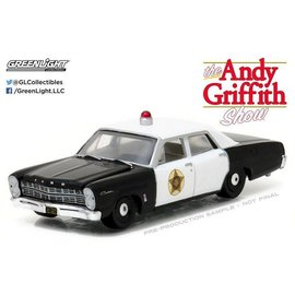 Greenlight Collectibles Greenlight 167 Ford Custom Police The Andy Griffith Show Hollywood Series Release 16 1:64 Scale Diecast Model Car