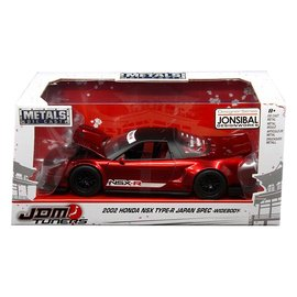 Jada Toys Jada JDM Tuners 2002 Honda NSX Type-R Japan Spec Widebody Candy Red 1:24 Scale Diecast Model Car