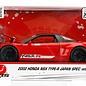Jada Toys Jada JDM Tuners 2002 Honda NSX Type-R Japan Spec Widebody Red 1:24 Scale Diecast Model Car
