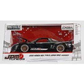 Jada Toys Jada JDM Tuners 2002 Honda NSX Type-R Japan Spec Widebody Black 1:24 Scale Diecast Model Car