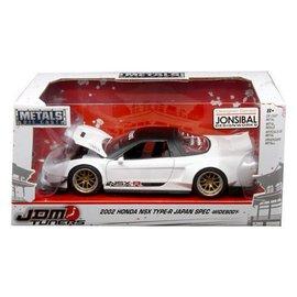Jada Toys Jada JDM Tuners 2002 Honda NSX Type-R Japan Spec Widebody White 1:24 Scale Diecast Model Car